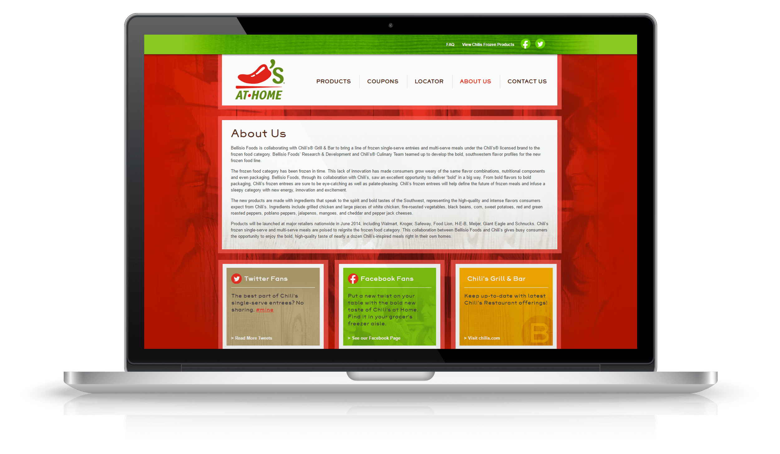 Pixelnation Project: Chilis at Home Website - About Us Page