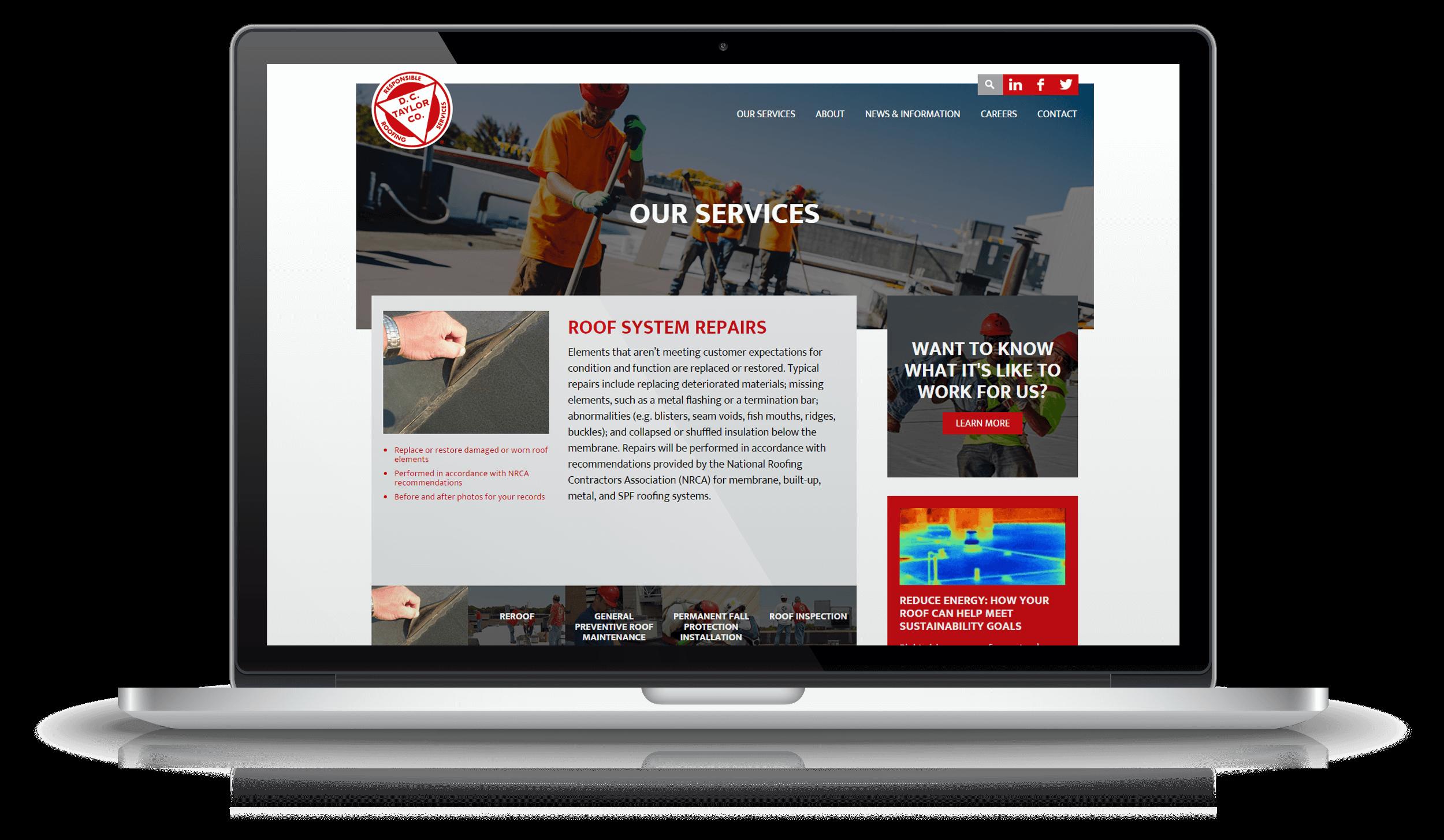 Pixelnation Project: D.C. Taylor Website - Services Page