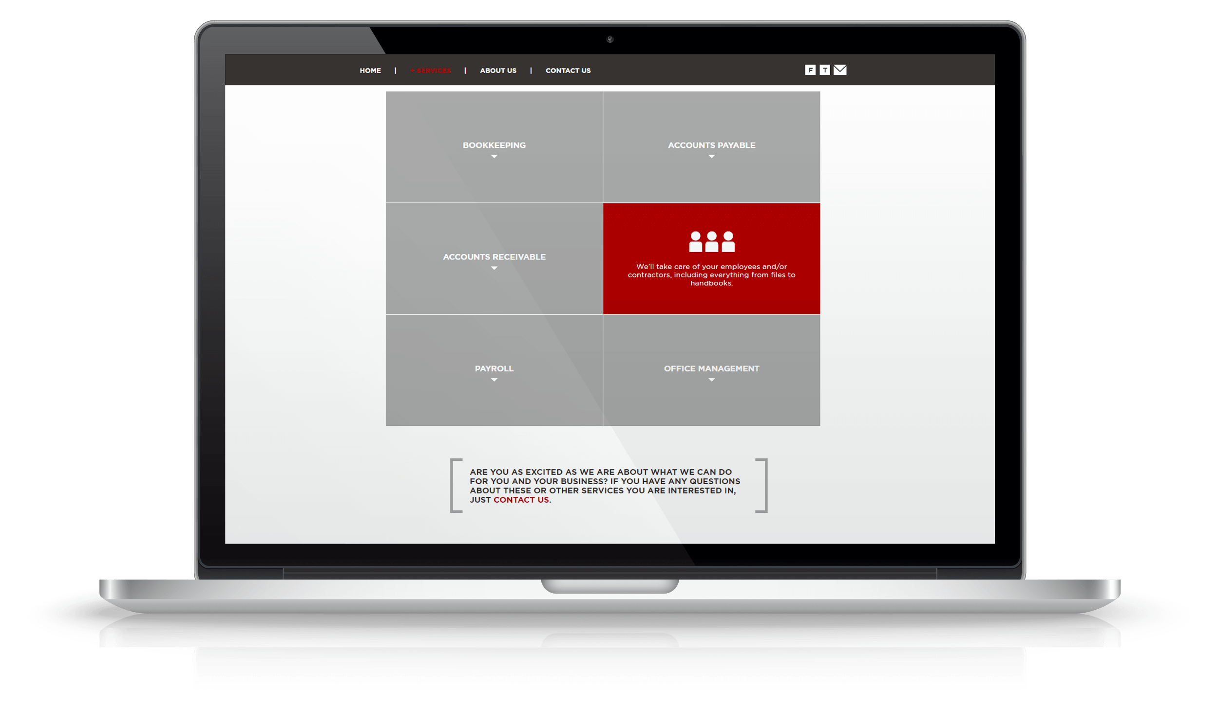 Pixelnation Project: Ketter Roe Website - Services Page