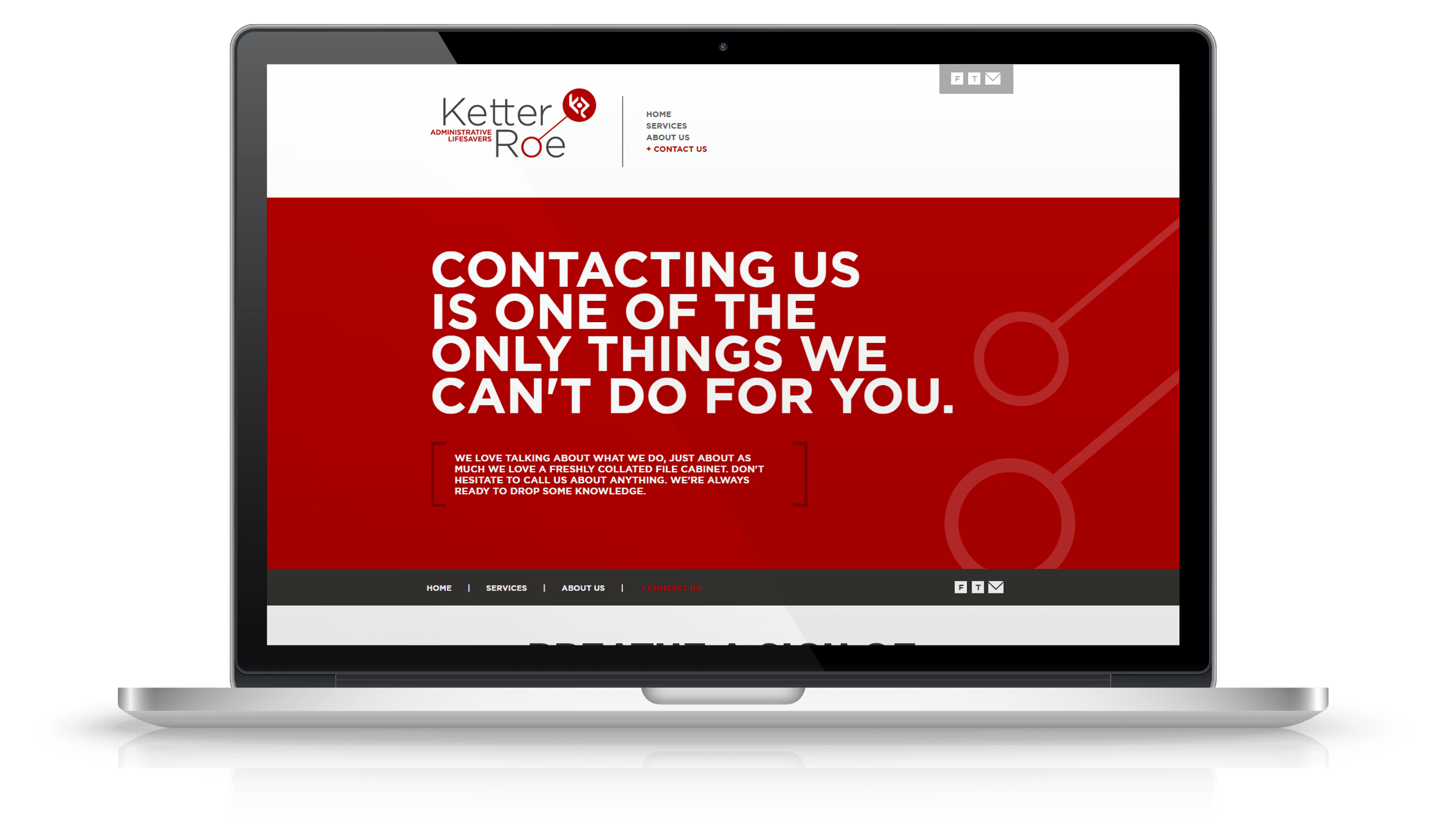 Pixelnation Project: Ketter Roe Website - Home Page