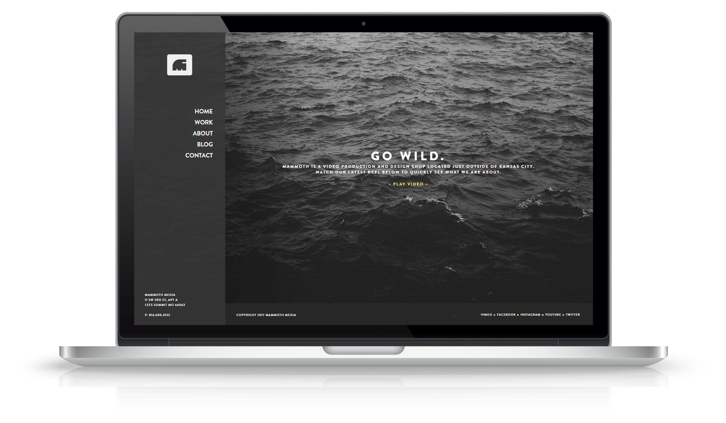 Pixelnation Project: Mammoth Media Website - Home Page
