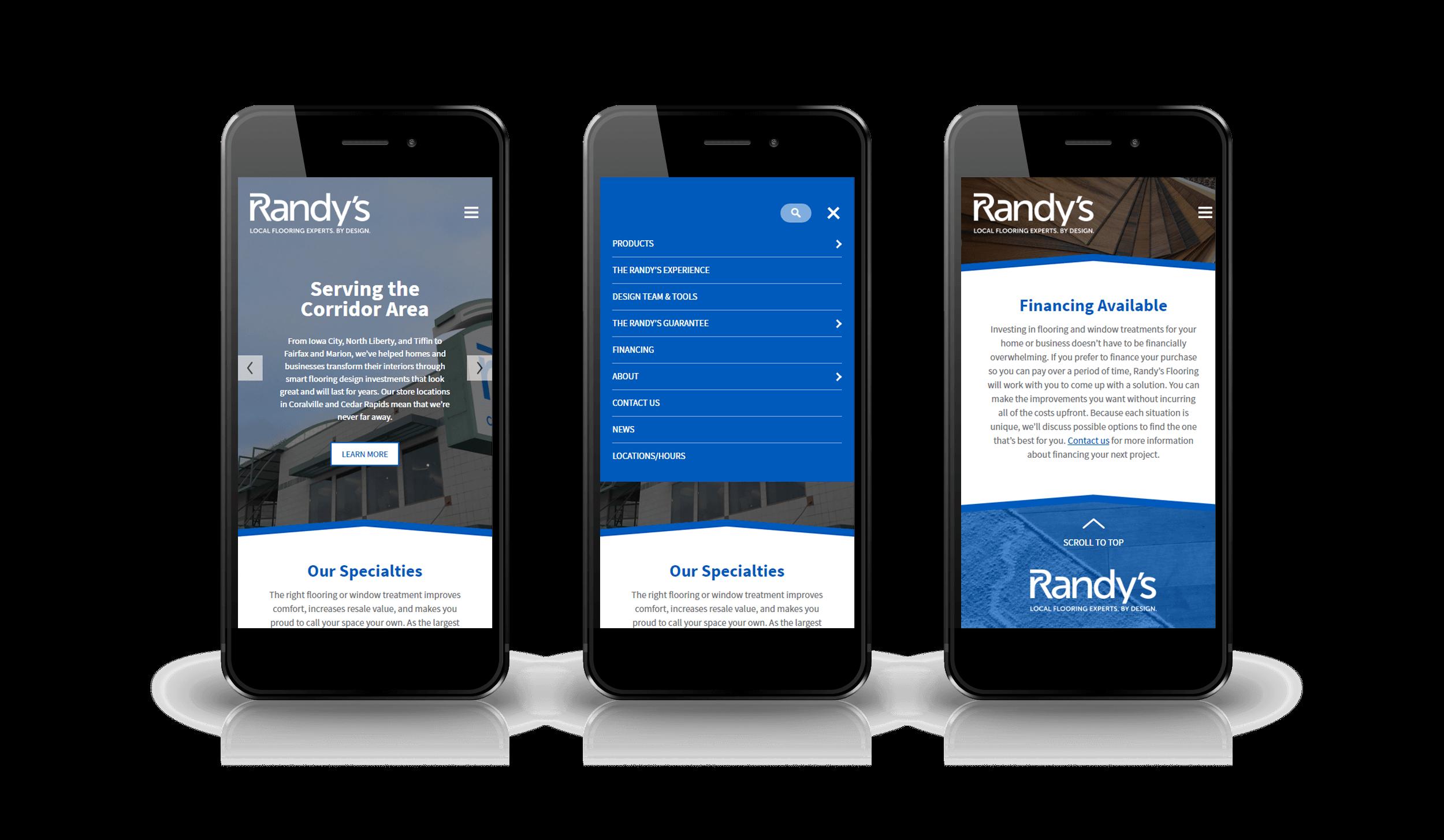 Pixelnation Project: Randys Flooring Website - Responsive